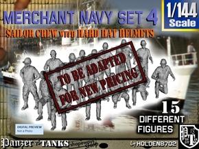 1-144 Merchant Navy Set 4 in Transparent Acrylic