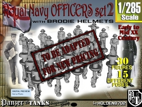1-285 Generic Royal Navy Officers Set 2 in Transparent Acrylic
