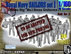 1-160 Royal Navy Sailors Set1 in Transparent Acrylic