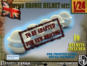 1-24 Brodie Helmet Set2 in Transparent Acrylic