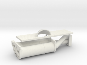 1/16 Brummbar Air Filter and Exhaust Cover in White Strong & Flexible