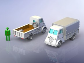 French Peugeot DMA 2to Truck 1/285 in Smooth Fine Detail Plastic