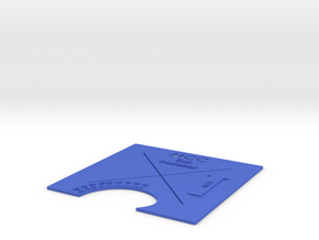 """MCC Curl Protractor Full """"X"""" in Blue Strong & Flexible Polished"""