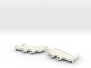 Blurr Wings With Jets in White Natural Versatile Plastic
