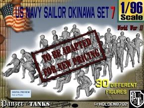 1/96 US Navy Okinawa Set 7 in Transparent Acrylic