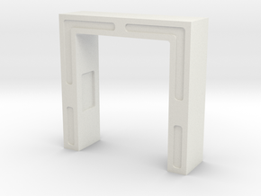 Main Mission Entry Arch (Space: 1999), 1/30 in White Natural Versatile Plastic