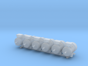 Electric Motor Size 2 (6pc) in Smooth Fine Detail Plastic