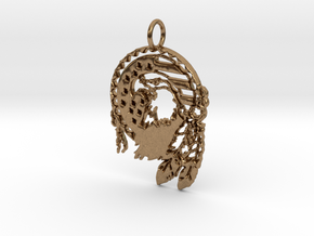 U.S. Indian Pendant in Natural Brass