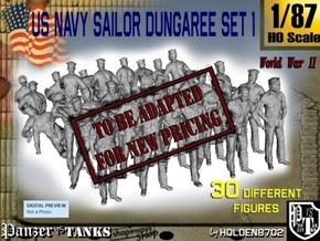 1/87 US Navy Dungaree Set 1 in Transparent Acrylic