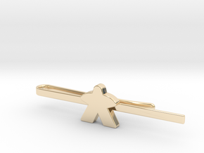 Meeple Tie Clip in 14K Yellow Gold: Large