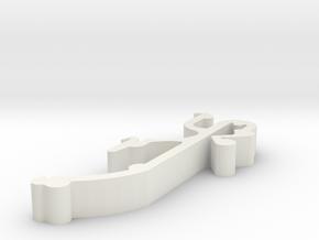 Blind Valance Clip 24 in White Natural Versatile Plastic