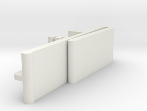 Vertical Valance Clip Delmar 01 in White Natural Versatile Plastic