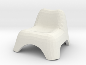 Chair, Miscellaneous 3 (Space: 1999), 1/30 in White Natural Versatile Plastic