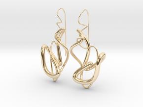 Delicate Drop Earings in 14k Gold Plated Brass