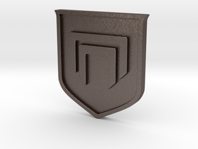 Destiny 2 Emblem - 3mm thick in Polished Bronzed Silver Steel