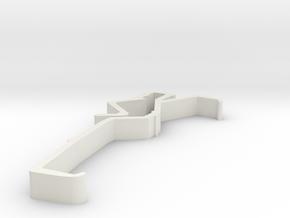 Blind Valance Clip 00153 in White Natural Versatile Plastic