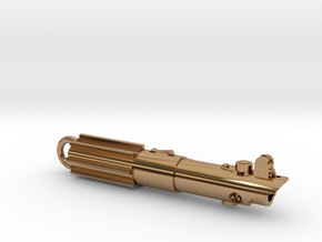 Graflex keychain - version 03 in Polished Brass