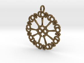 Axoneme Pendant - Science Jewelry in Polished Bronze
