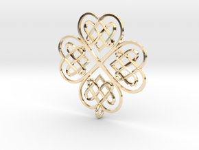 Clover Pendant in 14K Yellow Gold
