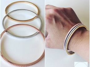 New Ingranaggio Bangle - Slim Version in Polished Brass