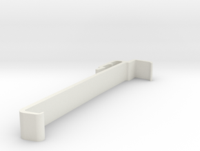 Blind Valance Clip 00173 in White Natural Versatile Plastic