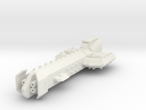 Battle Cruiser in White Natural Versatile Plastic
