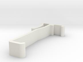 Blind Valance Clip 00142 in White Natural Versatile Plastic