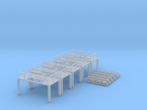 N Scale 5x Refinery Stairs (modular) in Frosted Ultra Detail