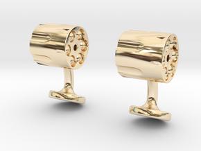 Revolver Cufflinks in 14K Yellow Gold