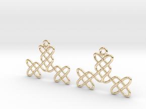 Celtic Weave Earrings - WE025 in 14k Gold Plated Brass