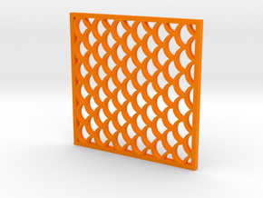 Costers with Fish Scale Pattern in Orange Processed Versatile Plastic