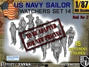 1-87 US Navy Watchers Set14 in Transparent Acrylic