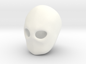 """Blank Face"" BJD head sculpting aid MSD size FRONT in White Strong & Flexible Polished"