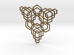 Hex Fractal Pendant in Natural Bronze