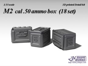 1/18+ M2 cal.50 Ammo Box (9 set) in Smooth Fine Detail Plastic: 1:18