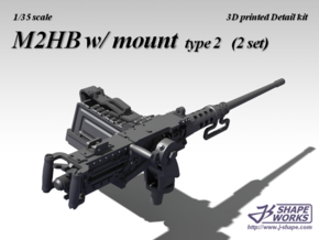 1/18+ M2HB w/ Mount (2 set - type 2) in Smooth Fine Detail Plastic: 1:18