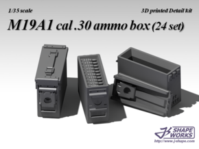 1/18 M19A1 cal .30 Ammo Box (24 set)  in Frosted Ultra Detail