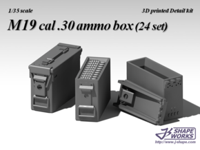 1/18 M19 cal .30 Ammo Box (24 set) in Frosted Ultra Detail