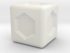 Heroscape Valkyrie Die Replica (15mm) in White Natural Versatile Plastic
