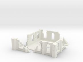 Modular Building in White Natural Versatile Plastic