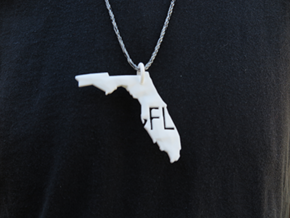 Florida State Pendant in White Strong & Flexible