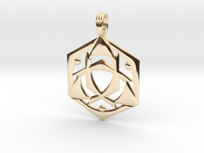 SYNCHRO-FREQUENCY in 14k Gold Plated Brass
