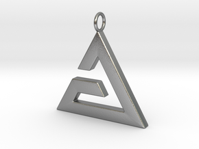 Aard Pendant in Natural Silver