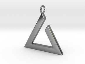 Igni Pendant in Polished Silver