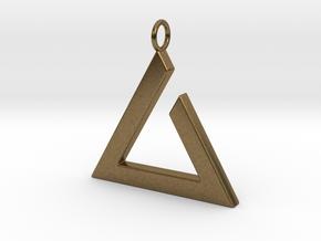 Igni Pendant in Natural Bronze