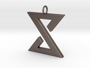 Yrden Pendant in Polished Bronzed Silver Steel