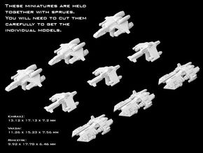 (Armada) Black Sun Fighters Set in Smooth Fine Detail Plastic