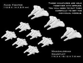 (Armada) Mandalorian Fighters Set I in Smooth Fine Detail Plastic