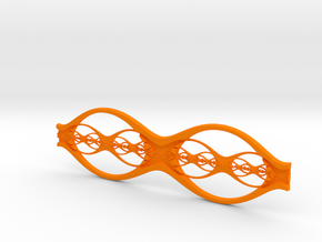 Eyeglass Frame in Orange Strong & Flexible Polished: Large