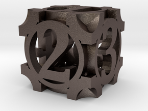 Daedal D6 - 16mm die in Polished Bronzed Silver Steel